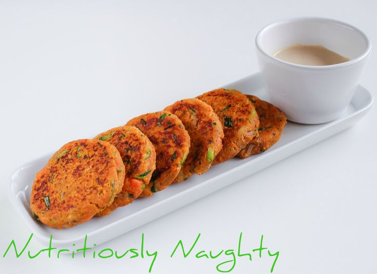 These simple gluten free, low FODMAP Tuna & Sweet Potato Cakes with a Tahini Dipping Sauce make the perfect free-from snack or side dish!