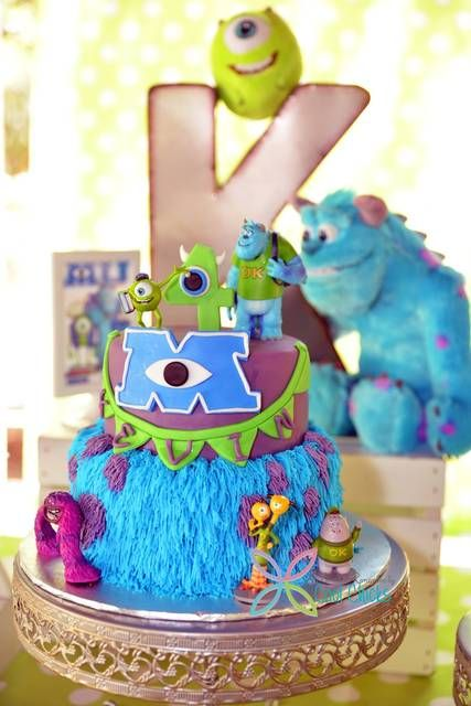 Monsters University Birthday Party cake! See more party ideas at CatchMyParty.com!