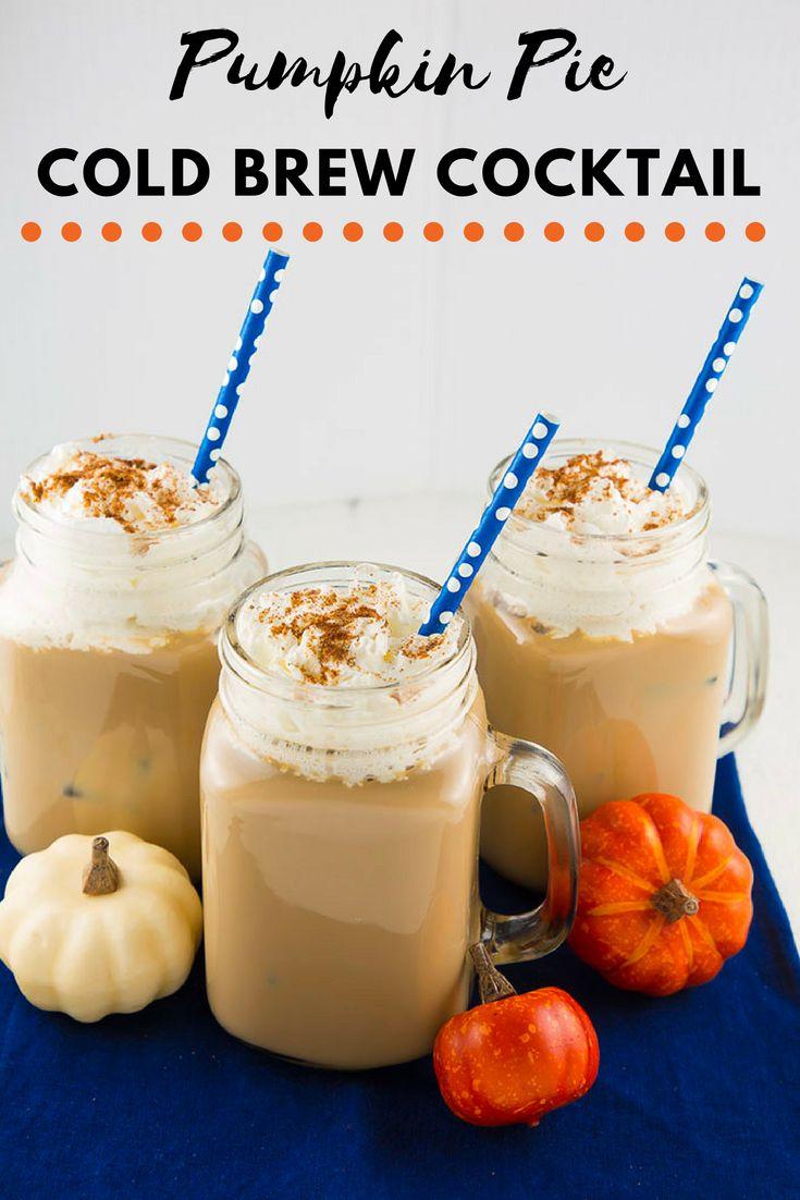 Pumpkin Pie Cold Brew Cocktail #cocktails #thanksgiving #fall #fallcocktails #pumpkincocktails