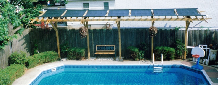 Solar Pergola For Pool Craft Projects Pinterest