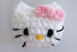 Hello Kitty Applique - FREE Crochet Pattern Chart