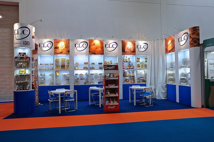 Modular Exhibition pop-up stand for ELC at IFE 2015 by Quadrant2Design