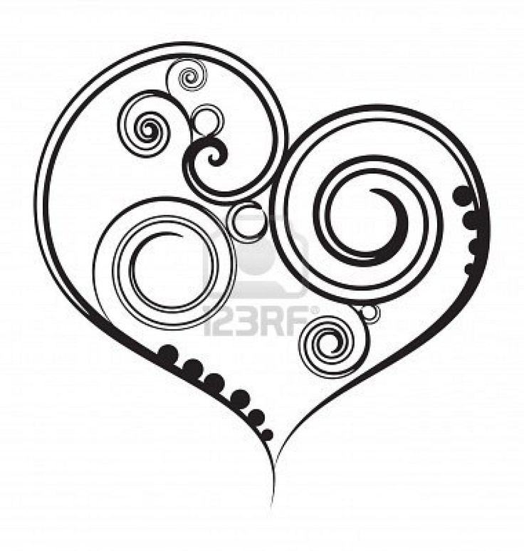 Image detail for -Abstract Black Heart With Design Royalty Free Cliparts, Vectors, And ...