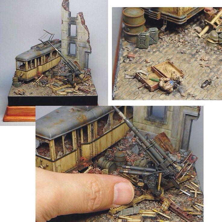 War Diorama Part2 Unknown modeler From: Plastic Model World  #scalemodel #plastimodelismo #miniatura #miniature #miniatur #hobby #diorama #humvee #scalemodelkit #plastickits #usinadoskits #udk #maqueta #maquette #modelismo #modelism