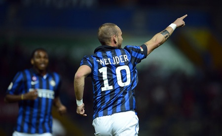 La Beneamata kalah, gol Sneijder sia-sia