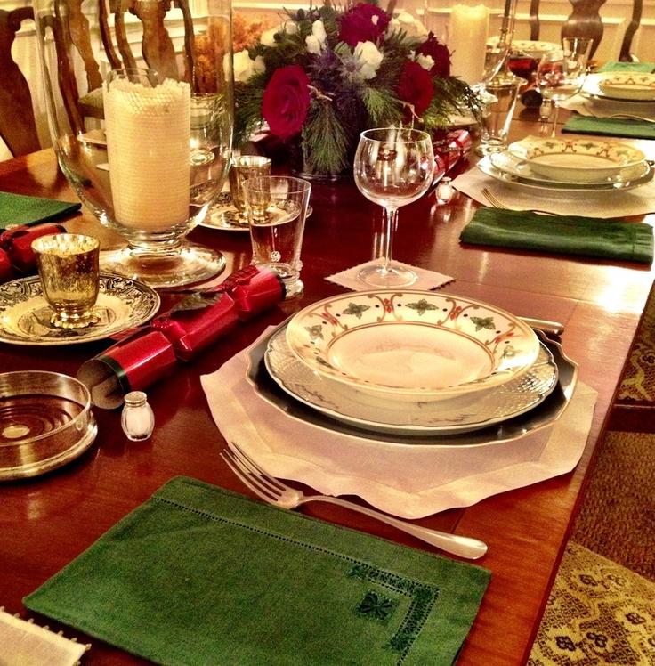 Christmas dinner tabletop
