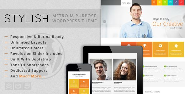STYLISH - Metro Multi-Purpose WordPress Theme  #themeforest