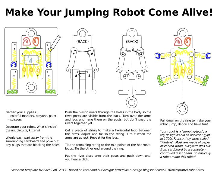 instructions to make a robot