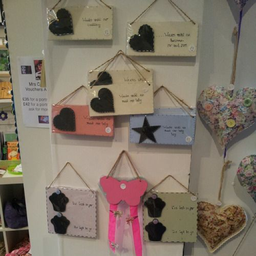 @Dottyaboutgifts dropped off a HUGE smout of work today including these count down plaques and hair clip displays! #Huddersfield #handmade
