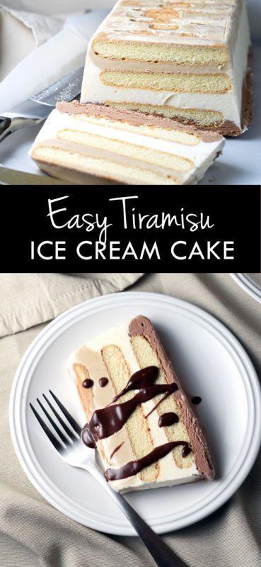 Easy Tiramisu Ice Cream Cake   Food And Cake Recipes