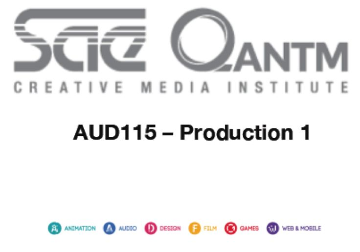 AUD115 - Production 1 cover