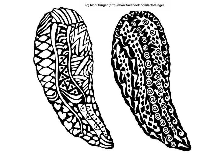 Silhouette plotter file free, Plotter Datei kostenlos, plotter freebie, wings, Flügel, doodles, doodle