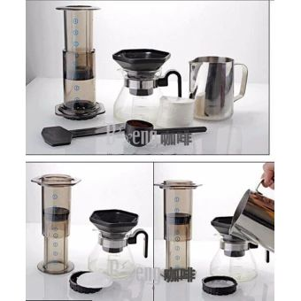 จัดส่งฟรี  Portable Filter Coffee Maker / China HAO LE YA Coffee Machine Pot(Similar AeroPress) + 350pcs Coffee Filter Paper - intl  ราคาเพียง  852 บาท  เท่านั้น คุณสมบัติ มีดังนี้ Brand new and high quality. Stylish and classic appearance, small and exquisite. In wide range of use.&