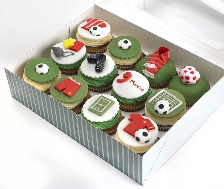 Liverpool football cupcakes