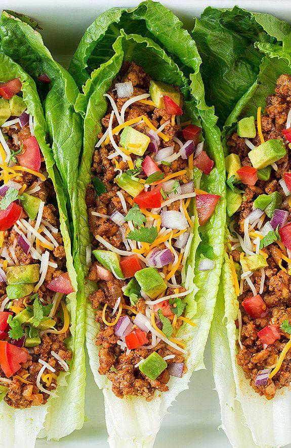 Turquía Taco Lechuga Wraps