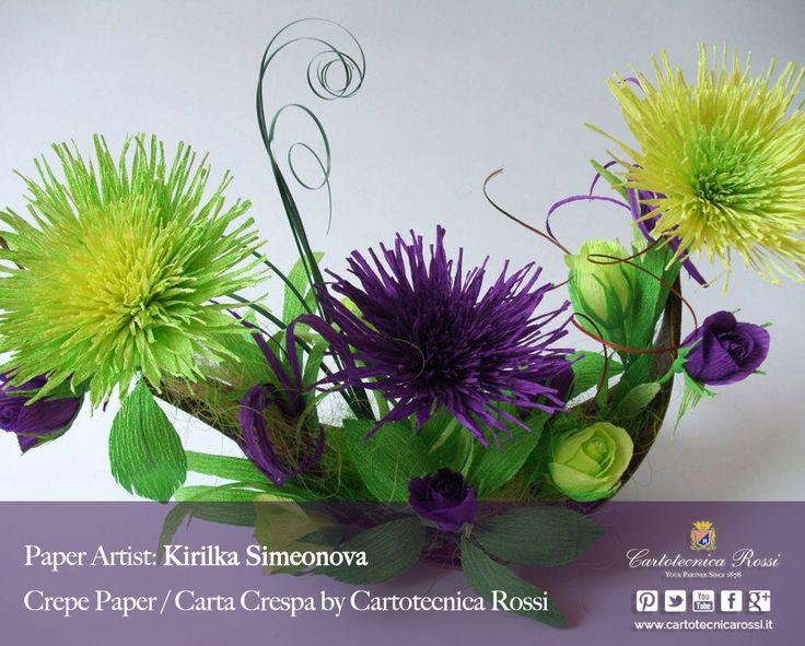 Paper Artist: Kirilka Simeonova - Crepe Paper / Carta Crespa / Papier Crépon / Papel Crepé: Cartotecnica Rossi