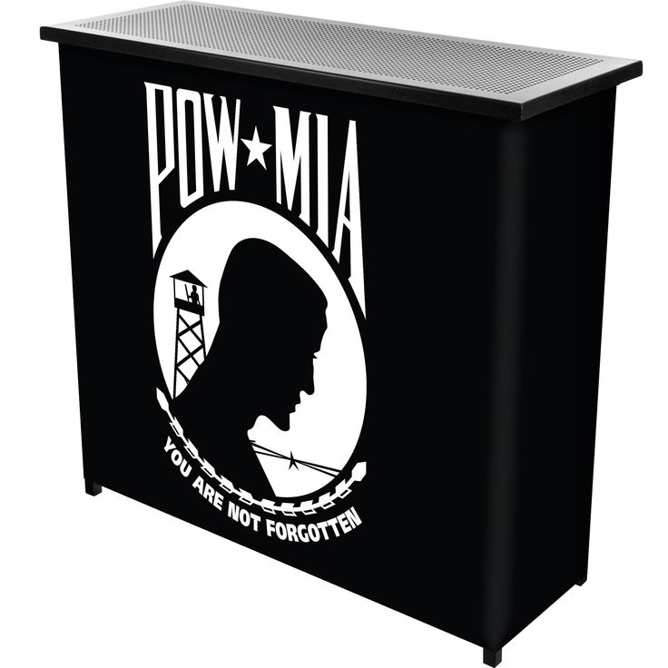 Trademark Gameroom POW Metal 2 Shelf Portable Bar Table w/ Carrying Case (Portable Bar), Black