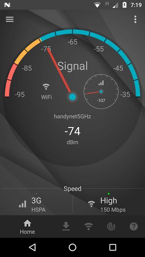 Signal Strength v19.3.1 [Premium]   Signal Strength v19.3.1 [Premium] Requirements:4.2 Overview:Are you living or working in a low signal area ? Then this is the app for you.  With this app you can get a good idea of the Cellular and WiFi signal strength and find out which corners of your office or home are having the best reception. What this app gives you:-  General User   Signal meter  Speed test  Phone health check  WiFi network utility  Discover WiFi devices  Signal widgets  Advanced…