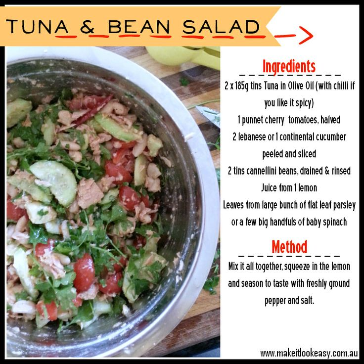 Tuna  Bean Salad  Simple, healthy  yummy!  #salad #easymeals this is actually delicious!!!