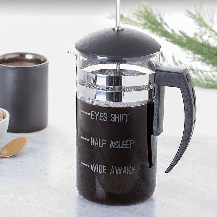 Personalised Measures Cafetiere. You can create a truly memorable, unusual gift, perfect for those who can't function without their first coffee of the day. Fill up the personalised coffee press with fresh coffee and let the design speak for itself!
