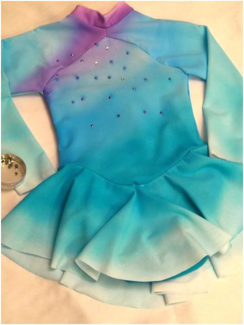 Ice Mom's Adventures in Figure Skating: Ice Mom's Sewing Guide: How to Airbrush a Figure Skating Dress