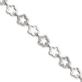 Sterling Silver CZ Floral Bracelet - 7.5 Inch - Lobster Claw - JewelryWeb JewelryWeb. $74.10