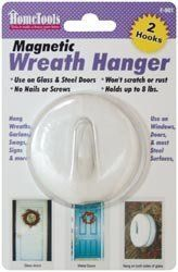 FPC 298445 Magnetic Wreath Hanger 2.5 in. -White by Fpc Corporation. $11.14. Design is stylish and innovative. Satisfaction Ensured.. Height: 6.75. Depth: 1.3. Great Gift Idea.. Width: 4.5. FPC CORPORATION-Magnetic Wreath Hanger. 1 piece per package. Use on glass and steel doors. No nails or screws. Won't scratch or rust. Holds up to 8 pounds. Ideal for hanging wreaths garland swags signs and more. Use on windows doors and most steel surfaces. Dimensions:. Hei...