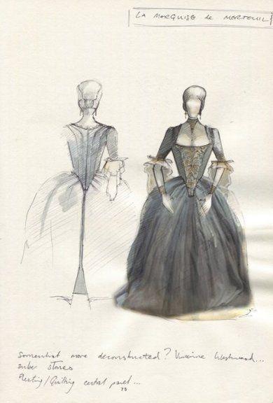 Les Liaisons Dangereuses (Marquise de Merteuil). National Theatre. Costume design by Tom Scutt.