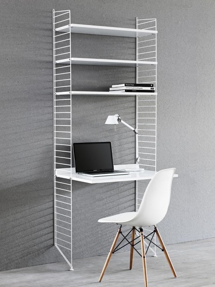 Shelving Unit and desk SYSTEM by String Furniture | Design Nils Strinning (1949) #desk #work