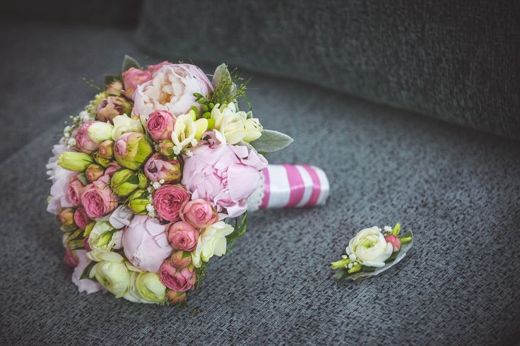 My own wedding: best bridal bouquet ever! I Love the peonies in every color!
