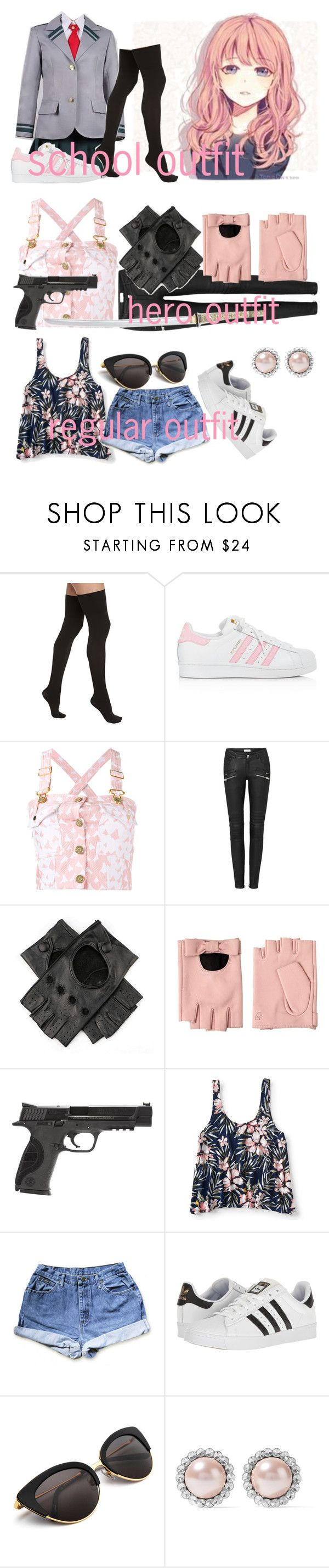 """i n t r o"" by itsgracie18 ❤ liked on Polyvore featuring Commando, adidas, House of Holland, Black, Karl Lagerfeld, Smith & Wesson, Aéropostale and Miu Miu"