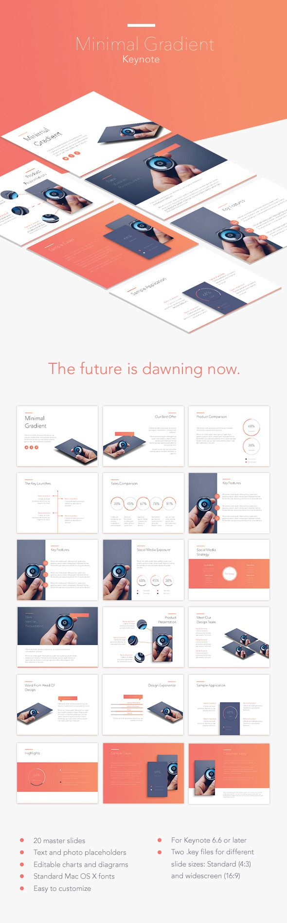 Minimal Gradient Keynote Template #design #slides Download: http://graphicriver.net/item/minimal-gradient-keynote-template/13745342?ref=ksioks