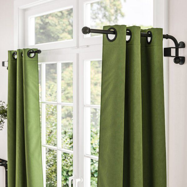 Verdell Curtain Swing Arm In 2020 Double Rod Curtains Curtain