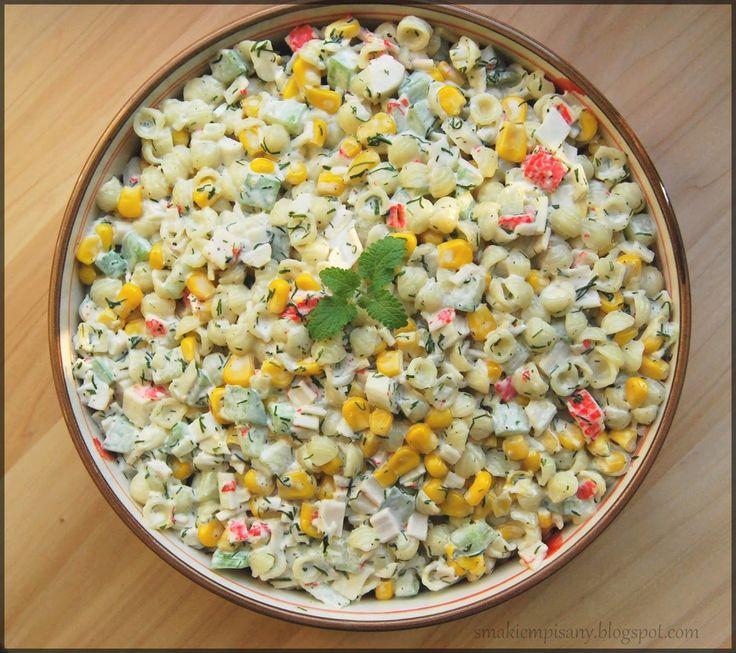 Smakiem Pisany: apetyczny, aromatyczny, kulinarny BLOG!: Sałatka z paluszkami krabowymi (surimi)