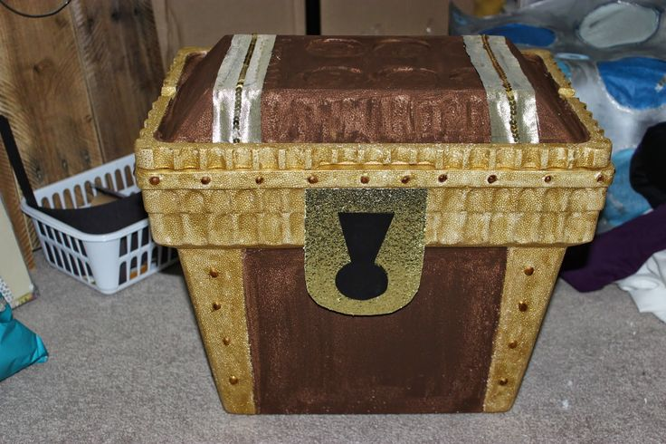 Treasure Chest for Little Mermaid Birthday to hold drinks, Foam Cooler