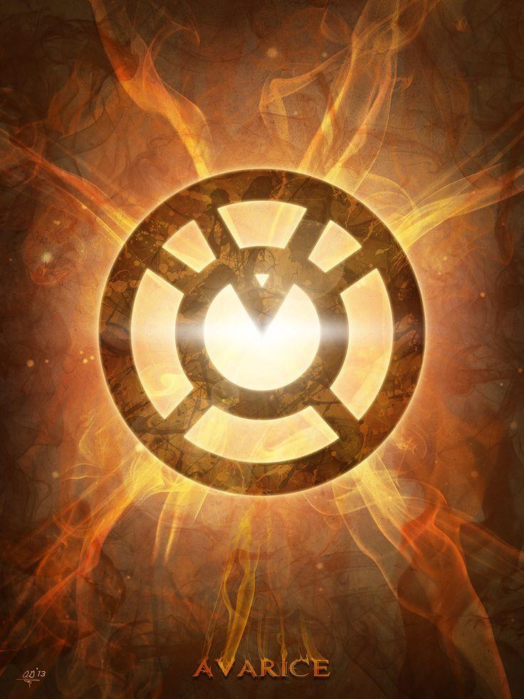 Avarice ~ The Orange Lantern Corps  digital theory | Tumblr