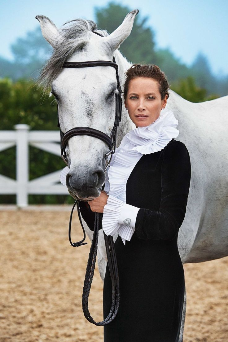 Timeless. A gorgeous photo of ageless, legendary model Christy Turlington, and a horse who looks like a supermodel. Both appear on the cover of Town and Country Magazine, the October 2016 issue. Kudos to photographer, Max Vadukul.