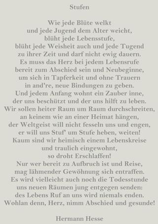 Hermann Hesse Stufen
