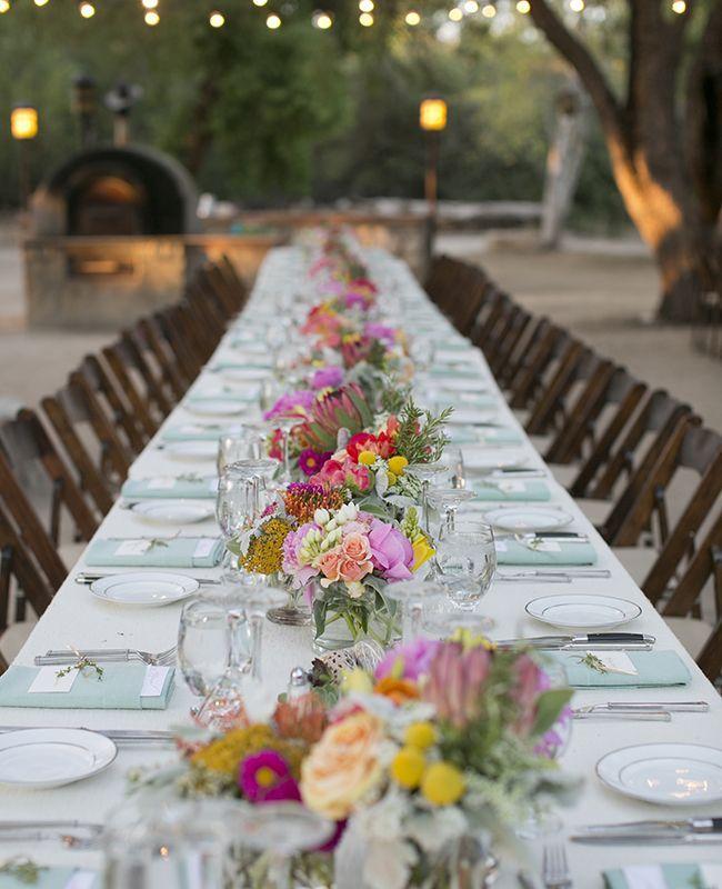Las mesas largas pueden hacer que tu boda sea mucho más divertida #WeddingBroker