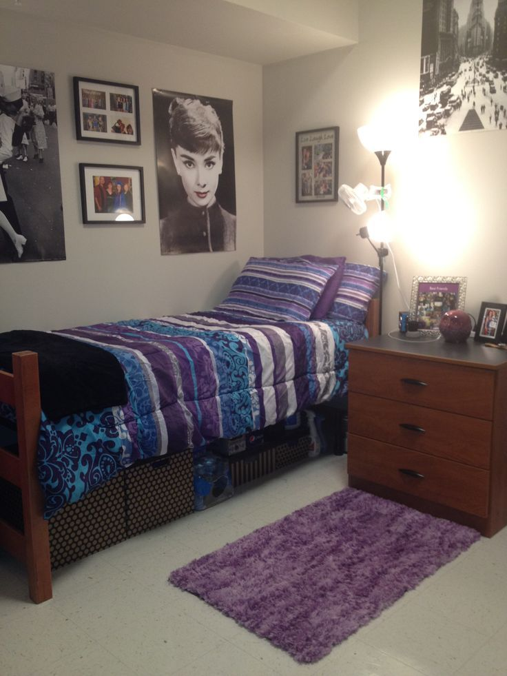 purple blue dorm room ideas pinterest nice