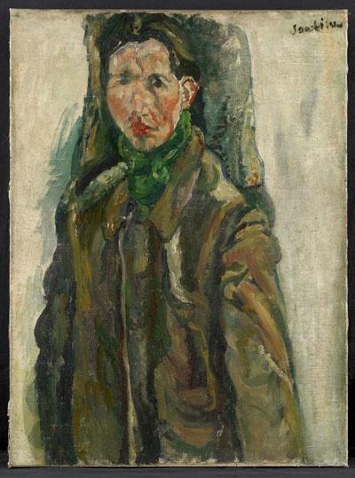 Soutine, Autoportrait au rideau (1917)