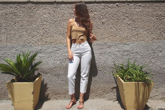 Levis Jeans 90's vintage high waisted tapered di UndiciVintage