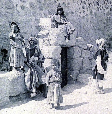 old photo showing Lazarus Tomb