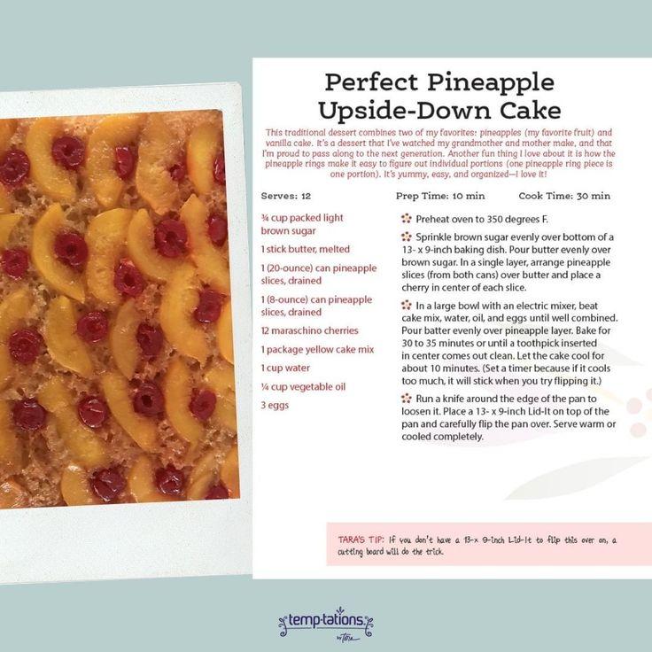 Teilen Sie diesen KÖSTLICHEN Pfirsich-umgedrehten Kuchen von heute. Wir ersetzen einfach