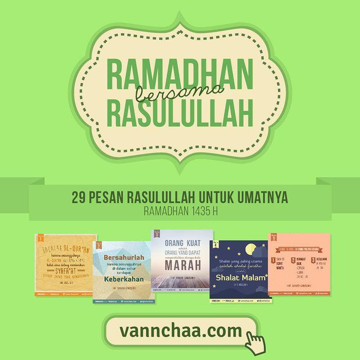 #RamadhanBersamaRasulullah adalah sebuah project tipografi harian yang berisi pesan-pesan Rasulullah. Beliau hidup 14 abad yang lalu, namun kita masih bisa merasakan kehadirannya lewat tuntunan-tuntunannya yang sekarang menjadi hadits-hadits.