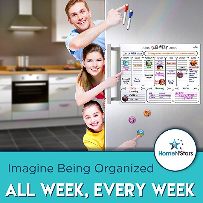 Dry Erase Calendar Board Weekly Magnetic Whiteboard For Refrigerator By Homen Stars Non Staining Dry Erase Board Calendar Magnetic White Board Dry Erase Board