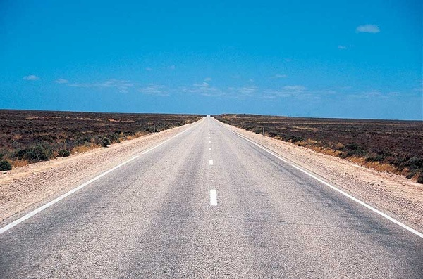 The worlds longest, straightest part of a road is the 90 Mile Straght (146.6km) - a section of the Eyre Highway which runs across the Nullabor Plain, from Western Australia and into South Australia.