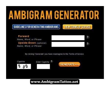 Ambigram creator free download for Ambigram tattoo generator free