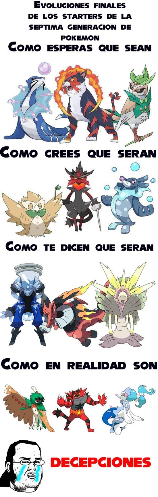 ★★★★★ Memes graciosos para compartir en facebook: Starters de la nueva generación de Pokémon... I➨ http://www.diverint.com/memes-graciosos-compartir-facebook-starters-nueva-generacion-pokemon/ →  #fotosdememeschistosos #memeschistosos2016 #memesenespañol #memesvideosderisa #videosdememeschistosos