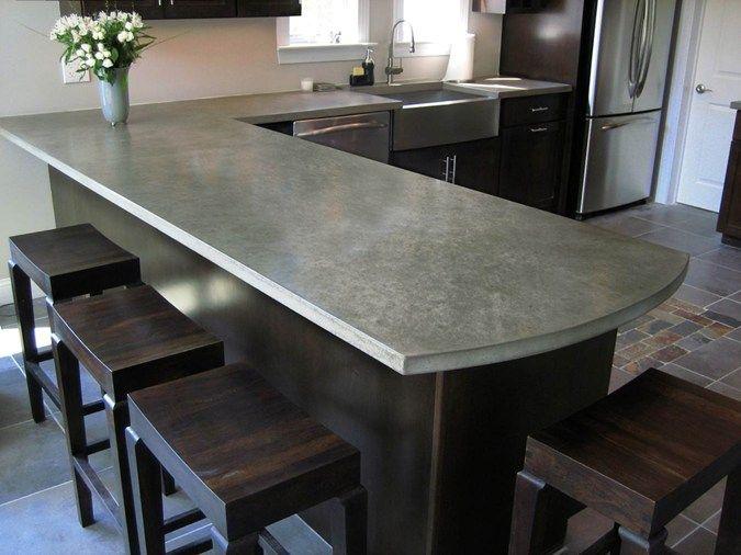 Concrete Countertop, Counter Top Concrete Countertops Trueform Concrete  Whartonu2026
